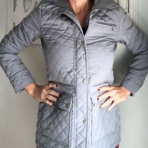 Calvin Klein Gray Quilted Jacket XS